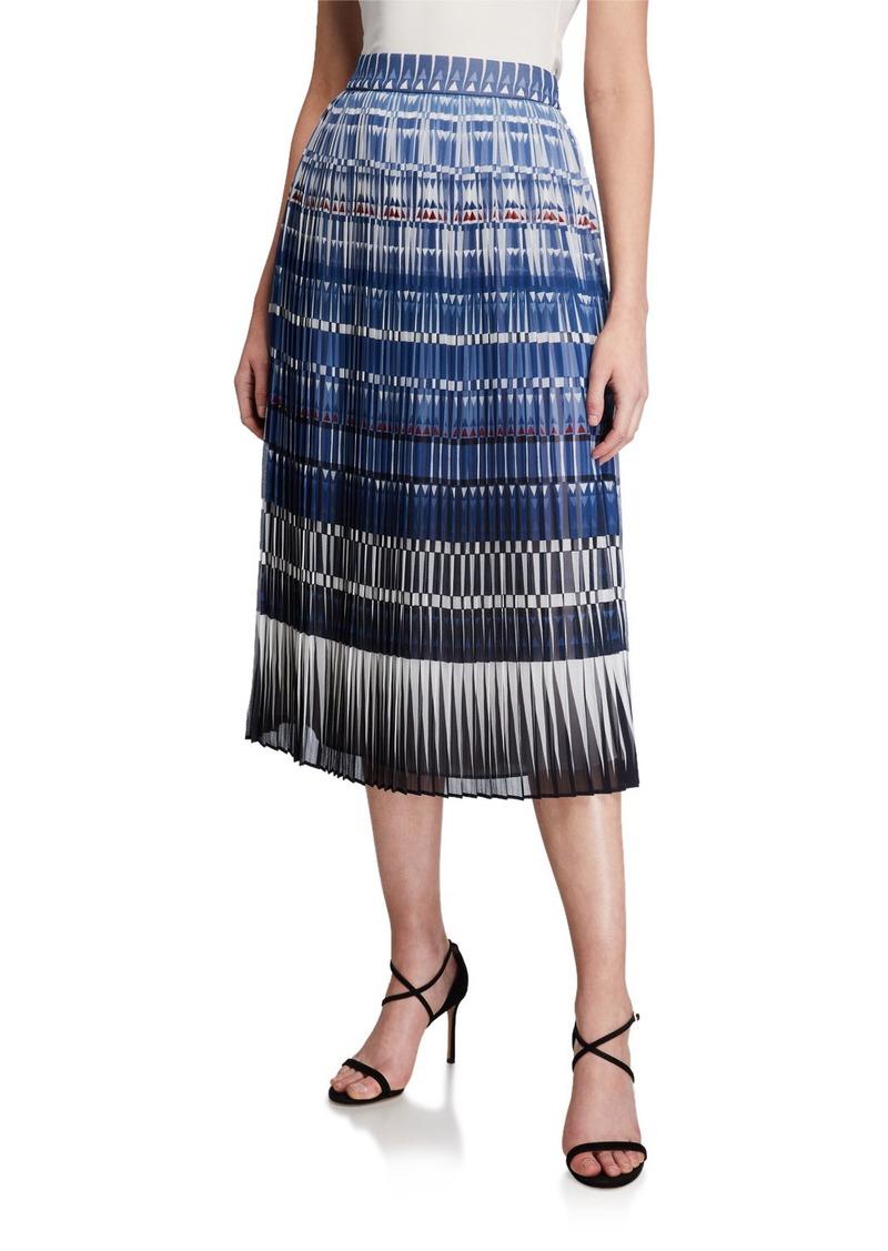 Kate Spade deco beale plisse midi skirt