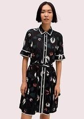 Kate Spade deco bloom short sleeve shirtdress