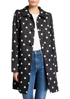 Kate Spade Deco-Dot Hooded Trench Coat