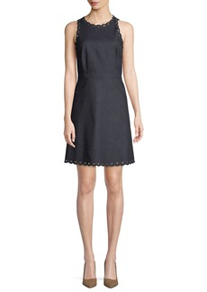 Kate Spade denim dress w/ scalloped trim
