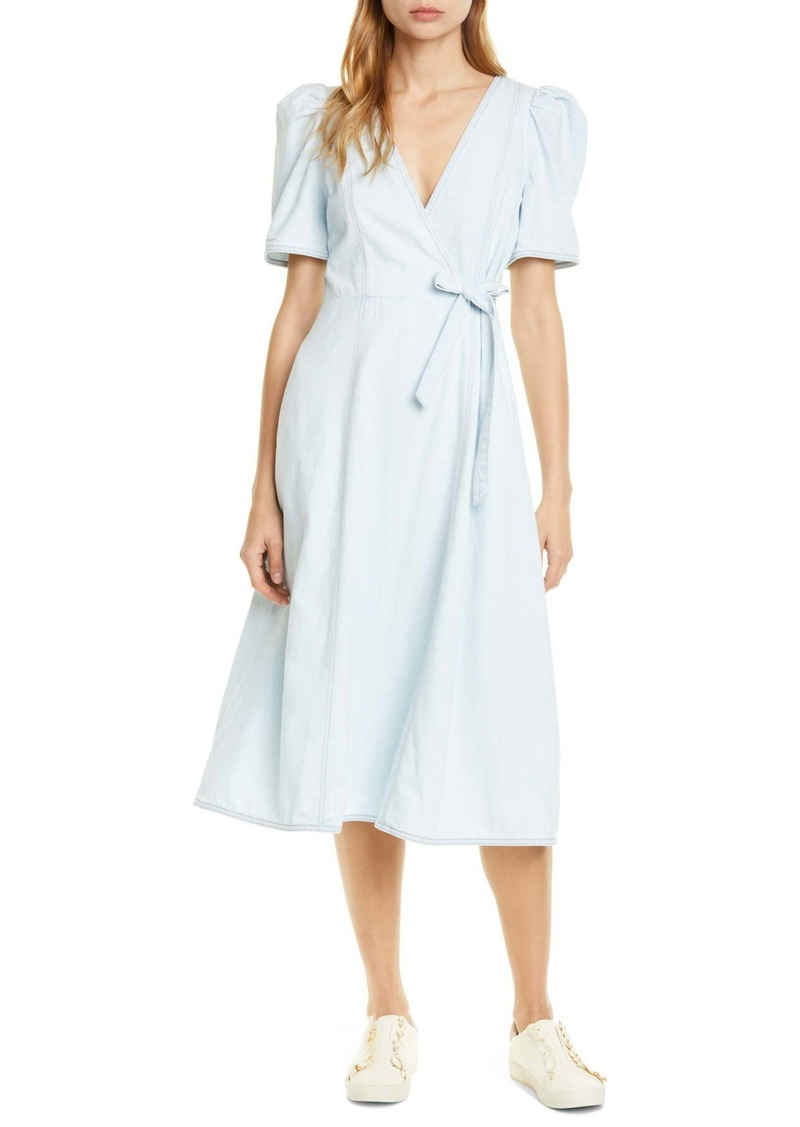 Kate Spade denim faux wrap dress