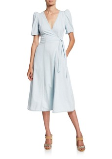 Kate Spade denim midi wrap dress