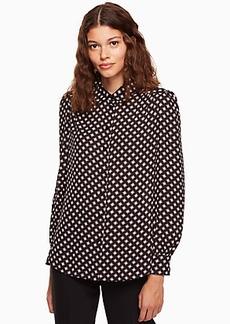 Kate Spade diamond long sleeve shirt