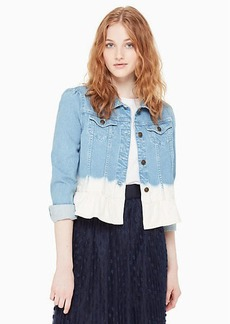Kate Spade dip dye denim jacket