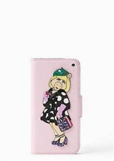 disney miss piggy collection by kate spade new york applique folio iphone 7 case