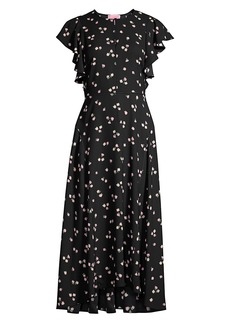 Kate Spade Ditsy Begonia Midi Dress