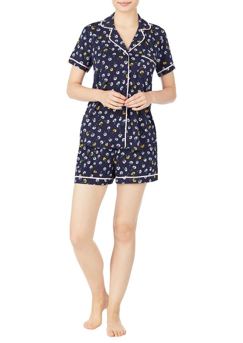 Kate Spade ditsy floral shortie pajama set