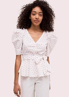 Kate Spade dot cotton drape blouse