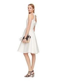 double bow back dress