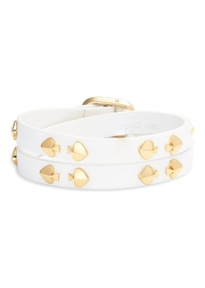 Kate Spade double wrap leather bracelet