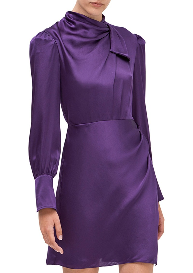 Kate Spade drape neck silk dress