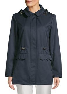 Kate Spade Drawcord Collared Raincoat