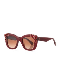 Kate Spade drystle flower-trim acetate sunglasses