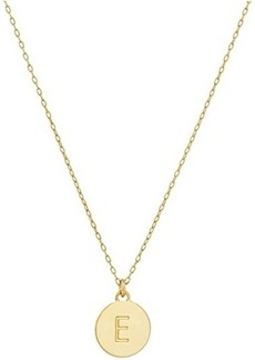 Kate Spade E Mini Pendant Necklace