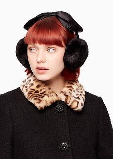 Kate Spade earmuff with satin bow