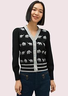Kate Spade elephant v-neck cardigan