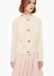 Kate Spade embellished cable cardigan
