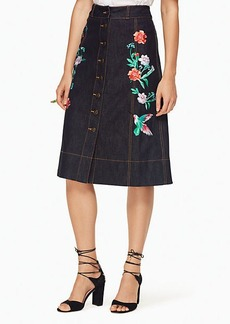 Kate Spade embellished denim skirt