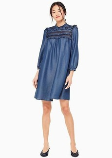 Kate Spade embroidered indigo dress