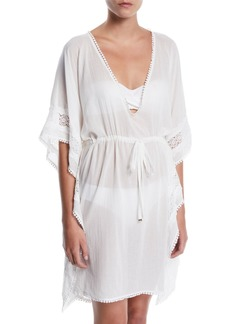 Kate Spade embroidered long caftan coverup