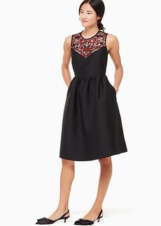 Kate Spade embroidered mikado dress