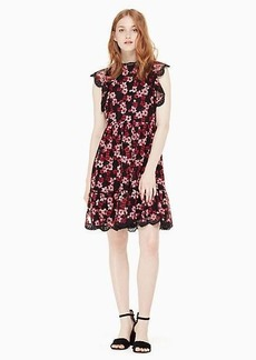 Kate Spade embroidered tulle mini dress