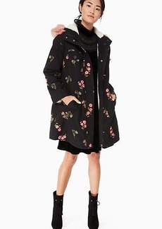Kate Spade embroidered twill coat