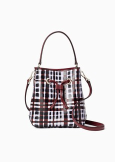 Kate Spade eva city plaid small bucket