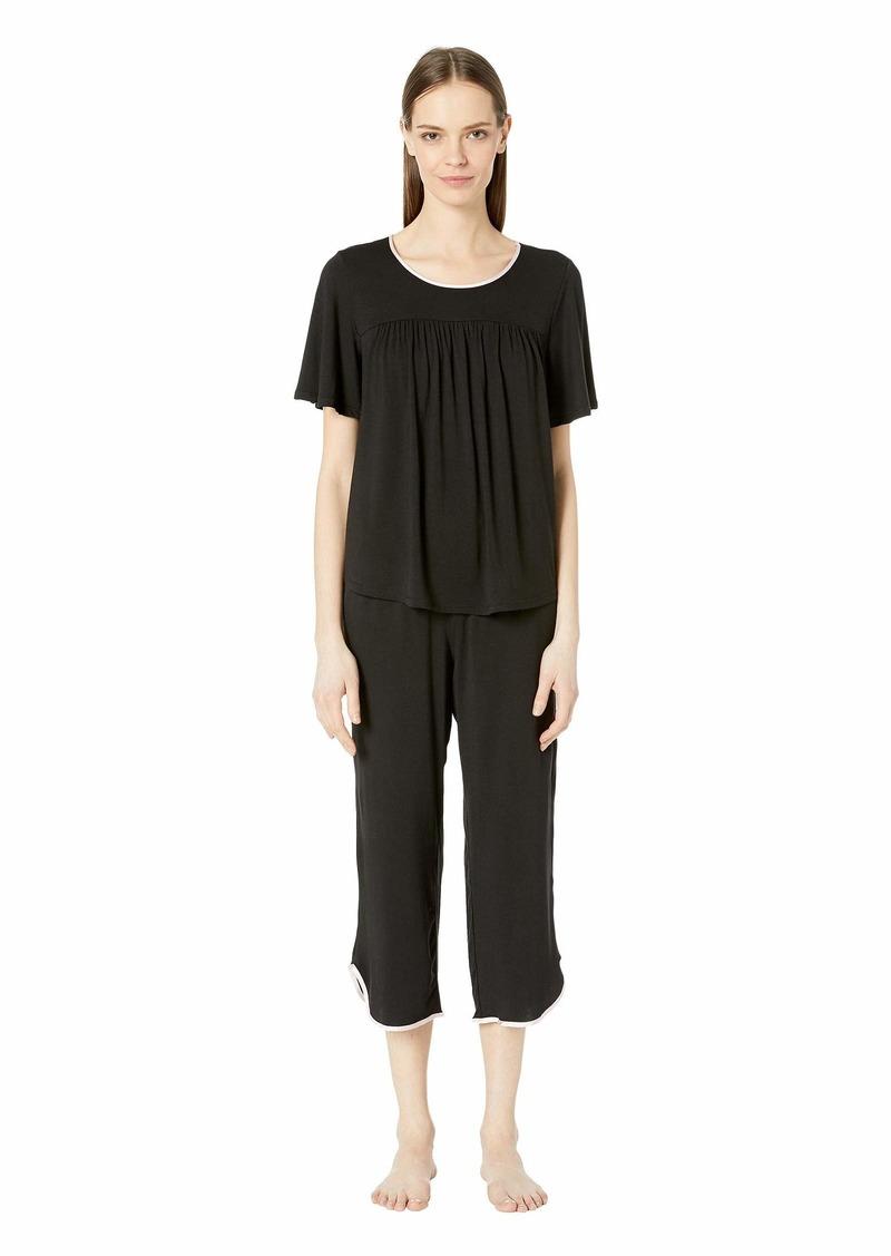 Kate Spade Evergreen Cropped Short Sleeve Pajama Set