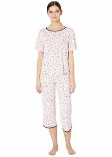 Kate Spade Evergreen Modal Jersey Short Sleeve Cropped PJ Set