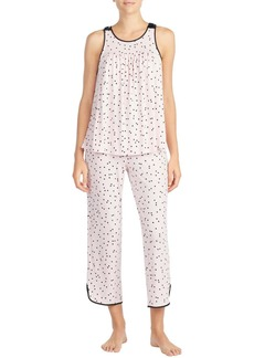 Kate Spade evergreen sleeveless cropped pajama set