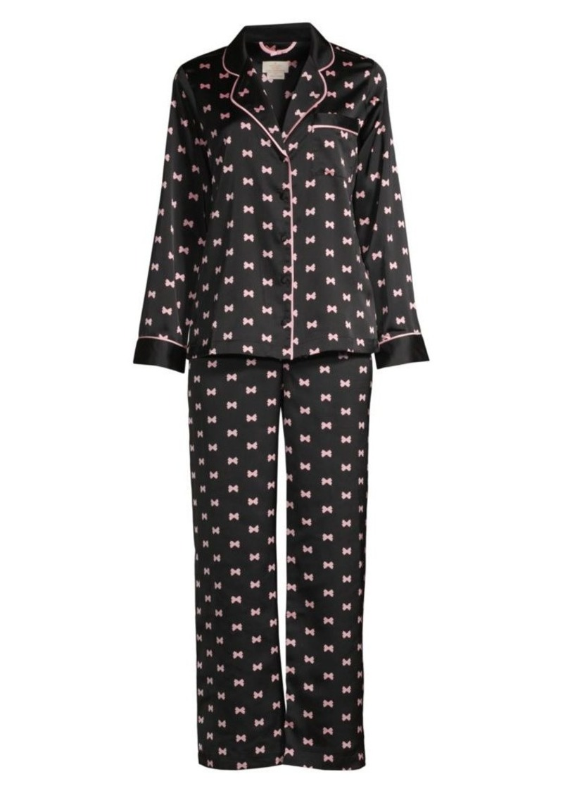 Kate Spade Evergreen 2-Piece Long Pajama Set
