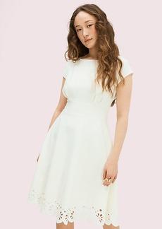 Kate Spade Eyelet Ponte Fiorella Dress