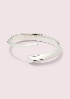 Kate Spade faceted bar open hinge cuff