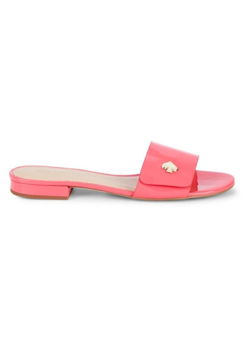 Kate Spade Farrow Patent Leather Slides
