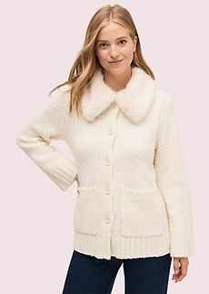 Kate Spade faux fur collar cardigan
