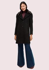 Kate Spade faux fur lapel coat