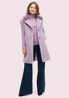 Kate Spade faux fur lapel coat