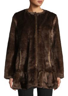 Kate Spade Faux-Fur Mink Coat