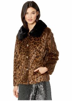 Kate Spade Faux Fur Three-Button Jacket