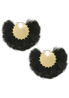 Kate Spade Feather & 14K Goldplated Hoop Earrings