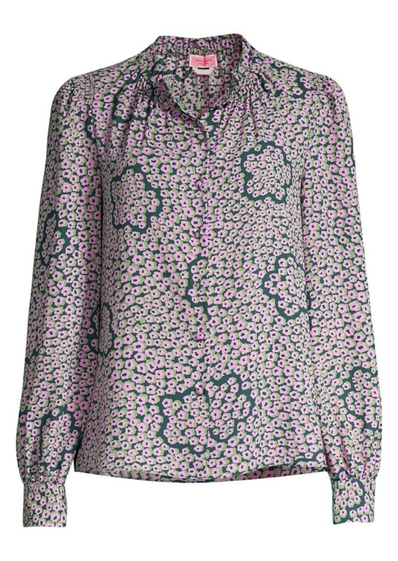Kate Spade Flair Flora Blouse