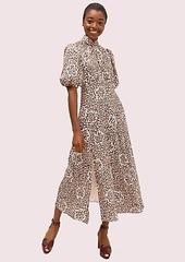 Kate Spade flair flora devoré midi dress
