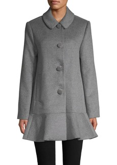 Kate Spade Flared Long-Sleeve Coat