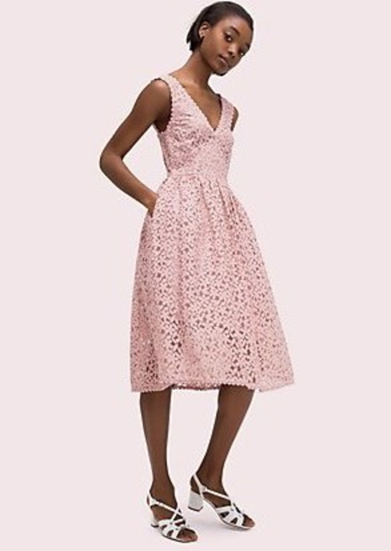 Kate Spade flora lace fit and flare dress