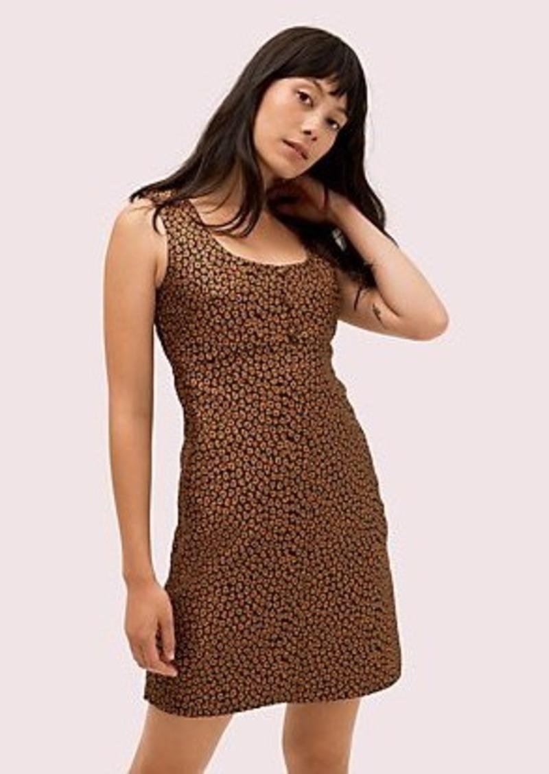 Kate Spade flora leopard jacquard dress