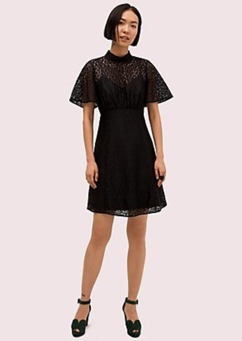 Kate Spade flora leopard lace mini dress