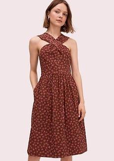 Kate Spade floradoodle halter dress