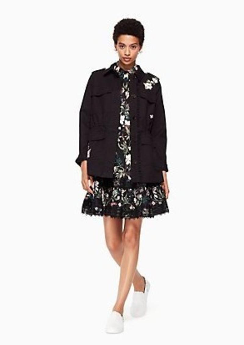 Kate Spade floral army jacket