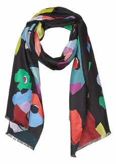 Kate Spade Floral Collage Oblong Scarf